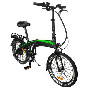 250W 36V 7.5AH Faltbares Ebike Elektrofahrrad Mountainbike Faltbar E-Bike Leistung 25 km / h Trekkingrad bis 120 kg - Schwarz