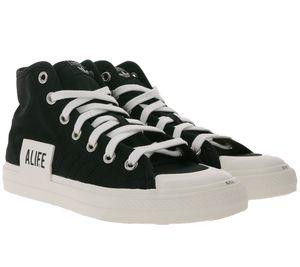 adidas x Alife Nizza High Top Sneaker coole Damen Skater-Schuhe Schwarz/Weiß, Größe:44 2/3