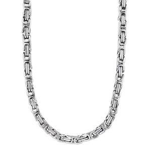 6 mm Königskette Armband Herrenkette Männer Kette Halskette, 50 cm Silber Edelstahl Ketten