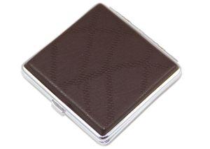 """ATTUY® """"Luxus Köln"""" hochwertiges Premium Zigarettenetui in der Geschenkbox für 20 Zigaretten, Farbe Silber-Braun im Muster-Look, Etui mit Metallspange bzw. Klammerhalterung"""