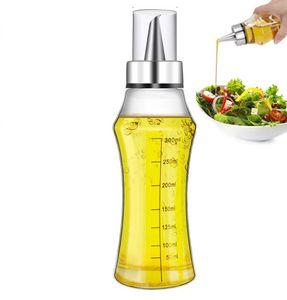 Essig Ölflasche Set Tropffrei Glas Ölspender Essigspender mit Skala Ausgießer…