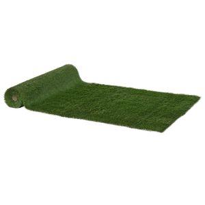 Outsunny Kunstrasen Rasenteppich Grasmatte künstlicher Rasen Rollrasen Balkon Garten 35 mm Kunststoff Grün 400 x 100 cm