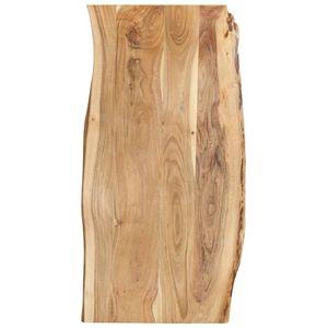 vidaXL Tischplatte Massivholz Akazie 120x(50-60)x2,5 cm