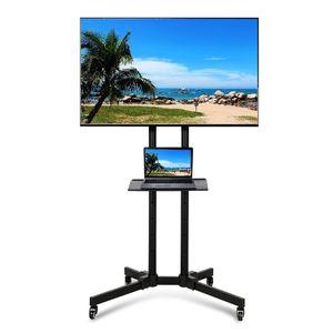 Yaheetech TV Bodenständer TV Standfuß für 32-65 Zoll  Fernsehstand  höhenverstellbar schwenkbar mit Halterung Max. VESA 600x400 mm