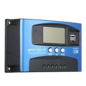100A MPPT Solarladeregler Dual USB LCD-Display Auto Solar Cell Panel Laderegler