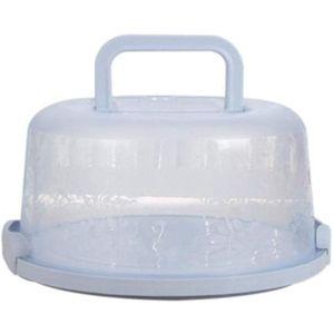Kuchenbehälter rund mit Haube Fresh Kuchenbehälter Fresh Tortenglocke Kuchenform Kuchenbox Kunststoff Kuchentransportbox (Blau)