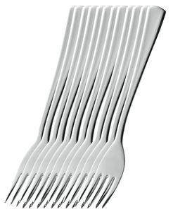 Esmeyer 12er Pack Gabeln STOCKHOLM aus Edelstahl 18/10, poliert. NMaterialstärke 2.2 mm , 204-047