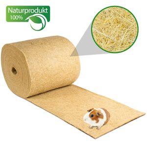 Nagerteppich aus 100% Hanf auf Rolle mit 25m Länge, 50cm Breite, 5mm dick Hanfteppich für alle Arten Kleintiere, Hanfmatte Nagermatte Nager-Teppich Einstreu-Ersatz