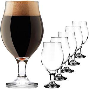 Biertulpen Biergläser Set 6 Teilig 450ml Bierkrüge Glas Bierschwenker Pilsgläser Altbierglas elegant Tulpe