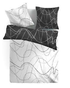 Wende Design Hochwertige Microfaser Bettwäsche Bettbezug Sterne 135x200 80x80, Design - Motiv:Design 1
