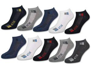 10 Paar Sneaker Socken Herren SPORT Baumwolle Sportsocken 16735 - Farbmix 39-42