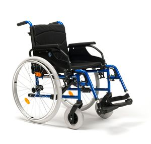 FabaCare Rollstuhl D200-V, Leichtgewicht Faltrollstuhl, vieles Einstellbar, faltbar, Premium Transportrollstuhl, Sitzbreite 40 cm