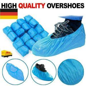 100x Stück Einweg Schuhüberzug Überschuhe Schuhüberzieher Überziehschuhe Einmal Schuhe Schutzkleidung