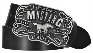 Mustang True Denim Leder Koppel Gürtel MG2017R01-0791, Länge:95 cm