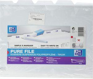 ELBA Pure File Hängemappe DIN A4 aus PP weiß seitlich offen 5 Mappen
