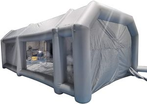 8.5 * 4.5 * 3m Aufblasbare Sprühkabine Zelt Spritzkabine Großes Autozelt aufblasbare für Autolackierung und Autoschutz