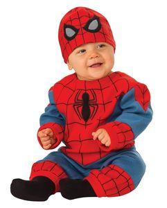 Originales Spiderman Baby Kostüm für kleine Superhelden Größe: S 6-12 Monate