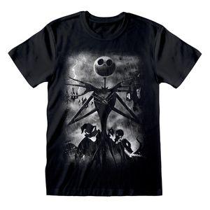 Nightmare Before Christmas – Stormy Skies XXL rundhals T Shirt Lizenzware Regular Fit