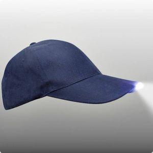 Praktische LED-Schirmmütze in schwarz oder blau Farbe - dunkelblau