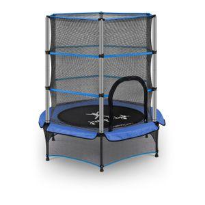 Uniprodo Kindertrampolin - mit Sicherheitsnetz - 140 cm - 50 kg - blau