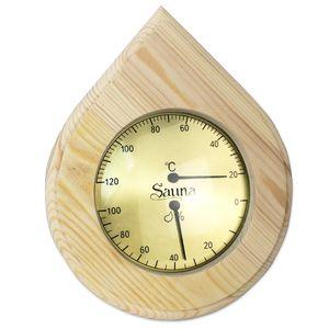 Sudorewell® Sauna Klimamesser Tropfen - Finnisches Sauna Thermometer + Hygrometer in Tropfenform- Design
