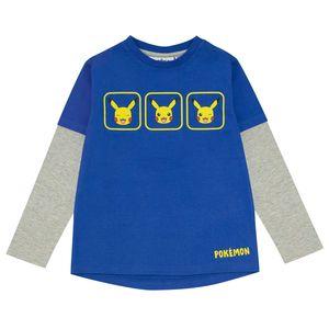 Pokemon - T-Shirt für Jungen PG1461 (128) (Blau/Grau meliert)