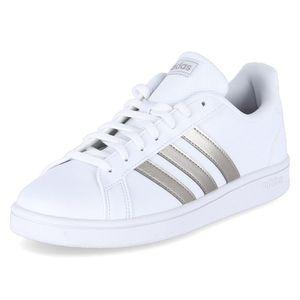 Adidas Damen Sneaker Sneaker Low Synthetikkombination weiß 39