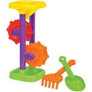 Sandmühle mit Schaufel und Rechen, 1 Stück, farblich sortiert