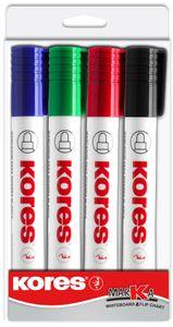 """Kores Whiteboard & Flipchart Marker """"K Marker"""" 4er Etui 3-5 mm"""