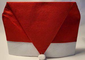 4er  Weihnachts Stuhlhusse Weihnachtsmütze