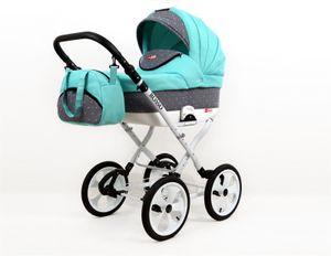 Kinderwagen Retro Buggy Luftreifen Rosso by Saintbaby Mint 3in1 mit Babyschale