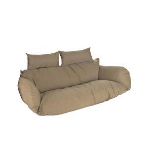HOME DELUXE - Polyrattan Hängesessel TWIN (NUR Kissen) Hängestuhl Hängekorb Gartenliege
