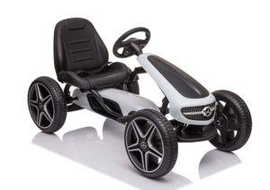 COIL Kinder Tretfahrzeug XMX610 Mercedes Kinderauto Tretauto Pedalen Rennkart Gokart Weiss