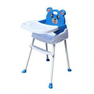 4 in 1 Hochstuhl Kinderhochstuhl  Baby Fütterung Fütterungsstuhl  Rutschfeste Tragbare Babyhochstuhl mit Fach Sicherheitsgurt Blau