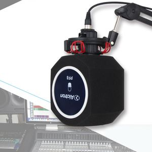 PF8 Mic Pop Filter Windschutzscheibe Maske Schild mit Halterung Clip für Aufnahmen, mit Mikrofon-Bildschirm, singt und Zuhause, Studio