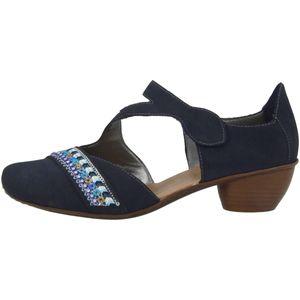 Rieker 43785 Schuhe Damen Spangenpumps gelenk offen, Größe:38 EU, Farbe:Blau