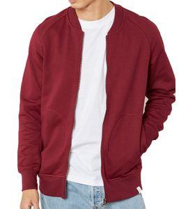 adidas Originals XBYO Jacke stylische Herren College-Jacke Yamayo Terry Baumwolle Bordeaux, Größe:S