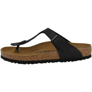 BIRKENSTOCK Gizeh Damen Zehentrenner Schwarz Schuhe, Größe:39