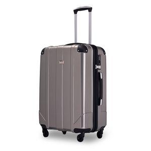 Koffer Handgepäck Koffer ( Bordcase ) - Farbe Grau Größe M - Reisekoffer - Trolley Hartschale
