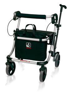 FabaCare Rollator Polo Comfort, Leichtgewichtrollator  Germany, Gehwagen, höhenverstellbar, faltbar, bis 120 kg, Größe L