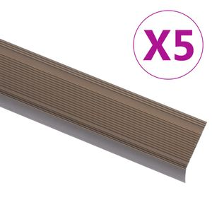 Chunhe Treppenkantenprofil Treppenkanten Winkelprofil Treppenkantenschutzin L-Form 5 Stk. Aluminium 100cm Braun