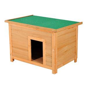 PawHut Hundehütte Hundehaus Hundehöhle Hütte für Hunde Katzen Dach Tannenholz 85x58x58cm