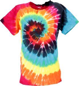Buntes Batik T-Shirt für Kinder Größe 146 - Model 1, Kinder/Baby, Mehrfarbig, Baumwolle, Oberteile & T-Shirts