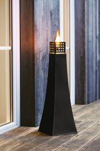 Große Metall-Öllampe, Maße 25 x 25 x 76 cm