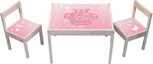 Pink Princess Butterfly Aufkleber - KA08 - (Möbel nicht inklusive) - Möbelsticker passend für die Kindersitzgruppe LÄTT von IKEA