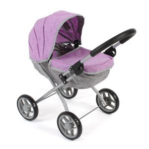 Puppenwagen Lilli, kleiner Puppenwagen für die jüngsten Puppenmuttis, Melange lila