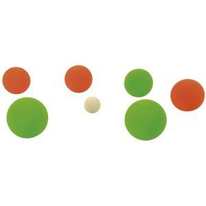 EDUPLAY Soft Boccia Kugeln mit Tragetasche, rot/grün, 8-teilig (1 Set)