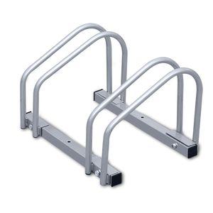 VINGO Fahrradstaender fuer 2 Fahrraeder, Stahl Verzinkt Fahrradstaender Buegelparker Boden Wand Montage Mehrfachstaender