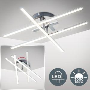 LED Design Decken-Lampe beweglich 12,5W LED-Modul Decken-Leuchte modern chrom B.K.Licht