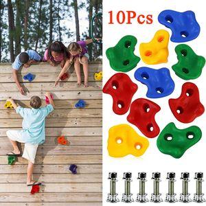 Klettersteine für Kletterwand im Set bunt gemischt robuste Klettergriffe für Spielturm (10 Stück)